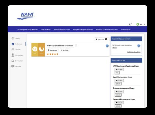 NAFA online training and certification
