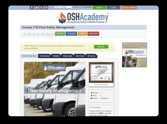 OSHA online training course