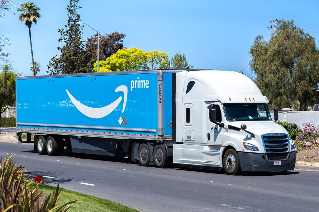 Amazon truck - shipping and delivery