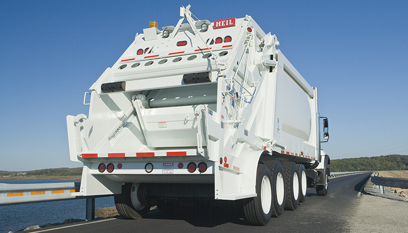 The Powertrak Commercial Plus High Capacity Rear Loader from Heil